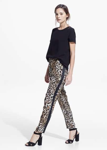 Pantalon fluide léopard | MANGO