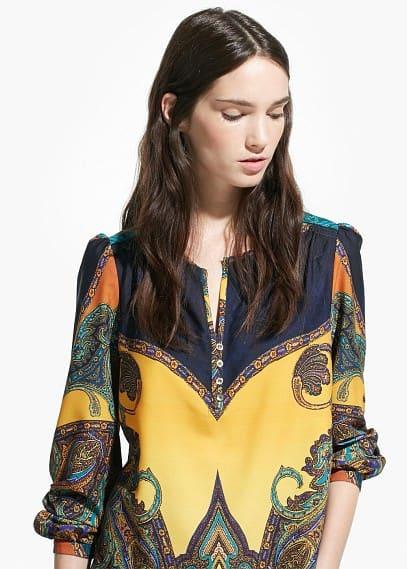 Flowy printed blouse   MANGO