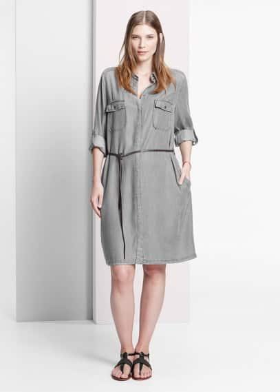 Belt shirt dress | VIOLETA BY MANGO