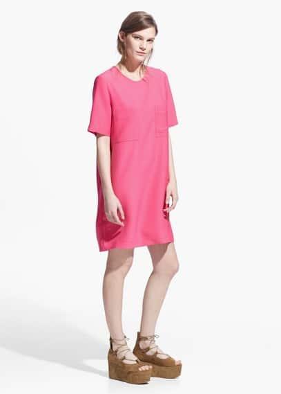 Pocket shift dress | MANGO