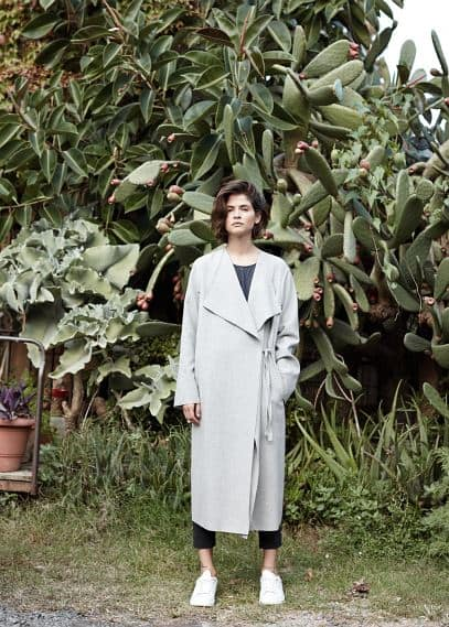 PREMIUM - Unstructured wool-blend coat