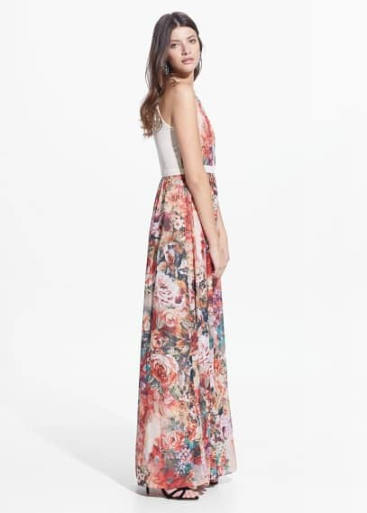 Halter neck gown | MANGO