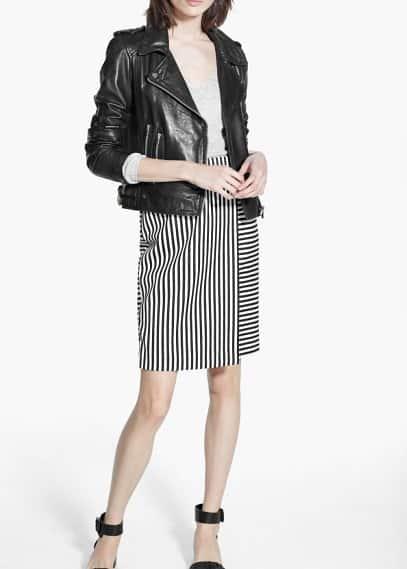Falda midi rayas | MANGO