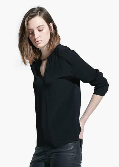 Notched detail blouse
