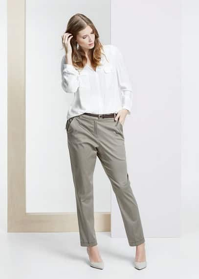 Cotton chinos | VIOLETA BY MANGO