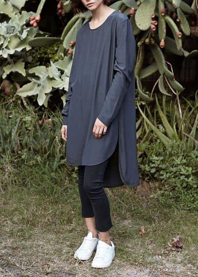 Premium - blouse met asymmetrische onderkant | MANGO