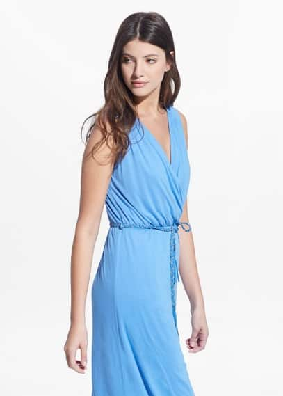 Country specials - wrap neckline gown | MANGO