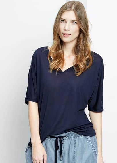 Soft fabric t-shirt | VIOLETA BY MANGO