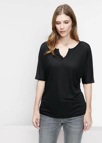 Soft fabric t-shirt   VIOLETA BY MANGO