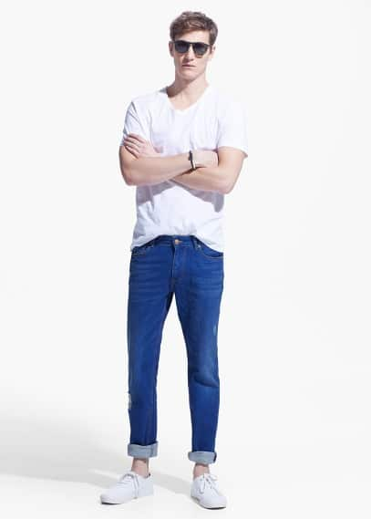 Slim-fit ink tim jeans | MANGO MAN