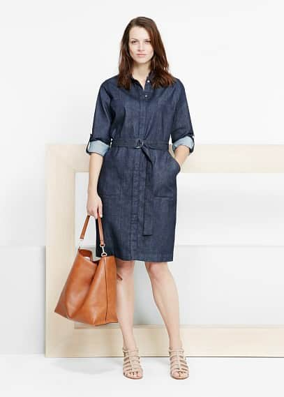 Denim shirt dress | VIOLETA BY MANGO