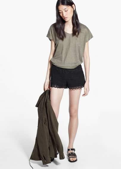 Shorts ganxet cotó | MANGO
