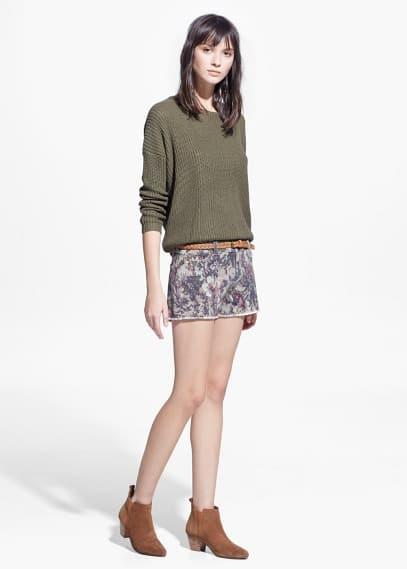 Shorts estampado floral
