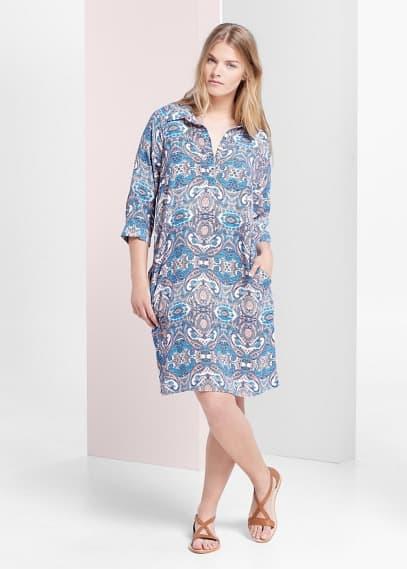 Φόρεμα πουκάμισο λαχούρια | VIOLETA BY MANGO
