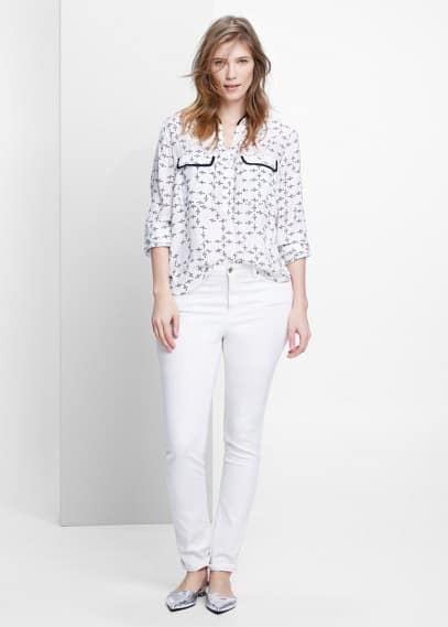 Printed pocket blouse | VIOLETA BY MANGO