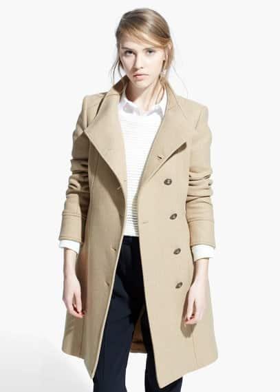 Wollen jas met knopen | MANGO