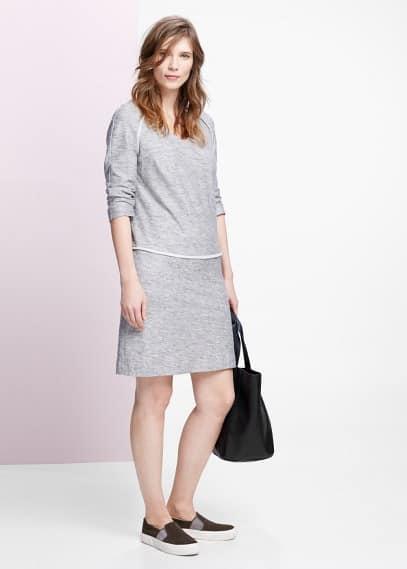 Knit linen-blend dress | VIOLETA BY MANGO