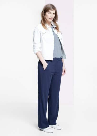Pantalons rectes | VIOLETA BY MANGO