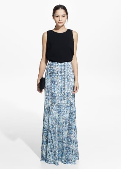 Country specials - snake print skirt | MANGO