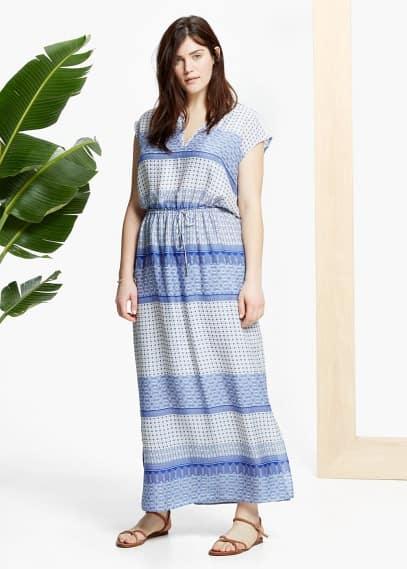 Φόρεμα μακρύ εμπριμέ | VIOLETA BY MANGO