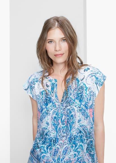 Bluse mit paisley-muster | VIOLETA BY MANGO