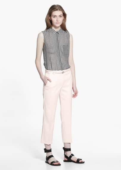 Belt straight-fit trousers | MANGO