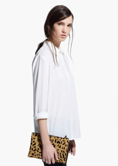 Soepelvallende blouse | MANGO