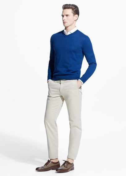 Jersey algodón seda | MANGO MAN