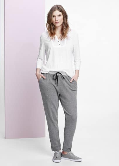 Placket linen blouse | VIOLETA BY MANGO