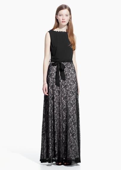 Lace gown | MANGO