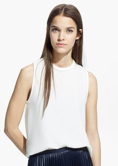 Textured panel top | MANGO