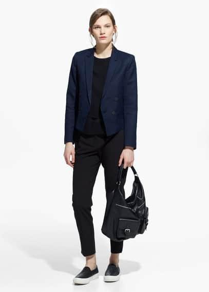 Leinen-baumwoll-blazer | MANGO