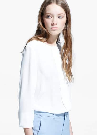 Bluse mit zierfalten | MANGO