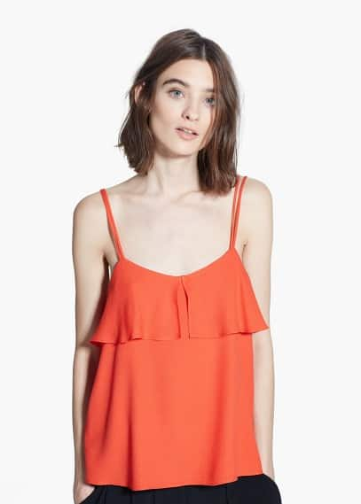 Ruffled strap top | MANGO