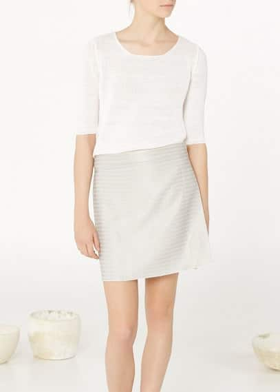Premium - wraped textured skirt | MANGO