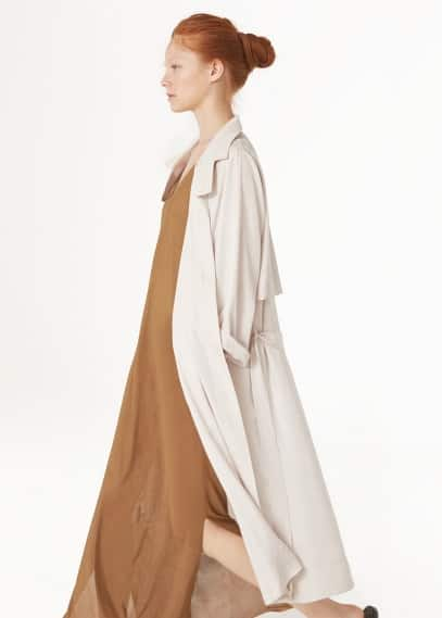 Premium -  flowy long trench | MANGO