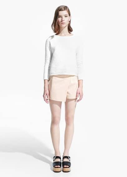 Cotton-blend skort | MANGO