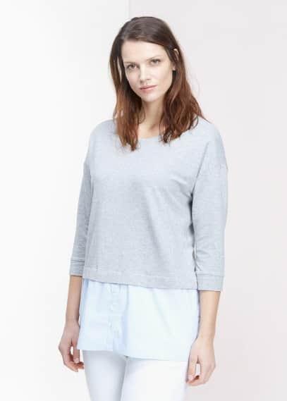 Sweat-shirt bas chemisier | VIOLETA BY MANGO
