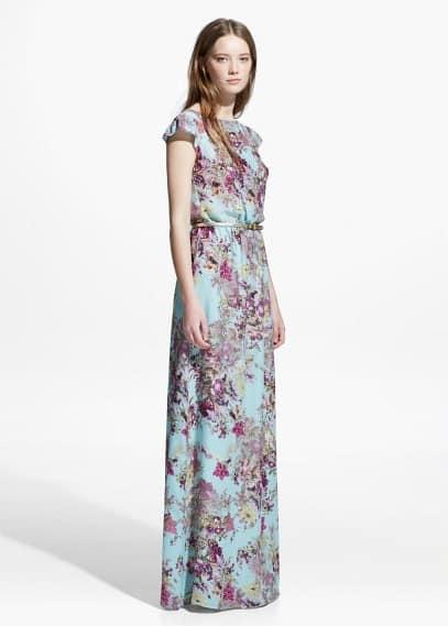 Vestido largo floral | MANGO