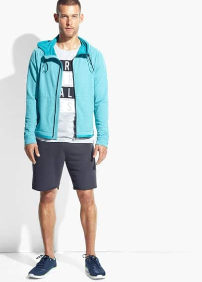 Zip hooded training sweatshirt | MANGO MAN