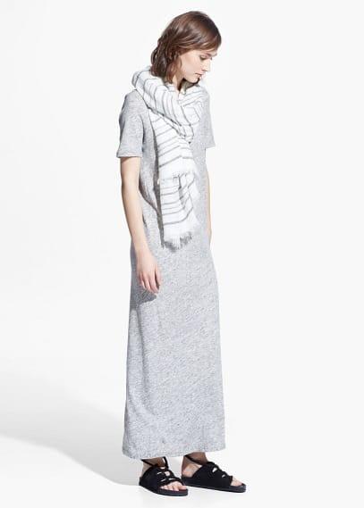 Vestido largo jaspeado | MANGO