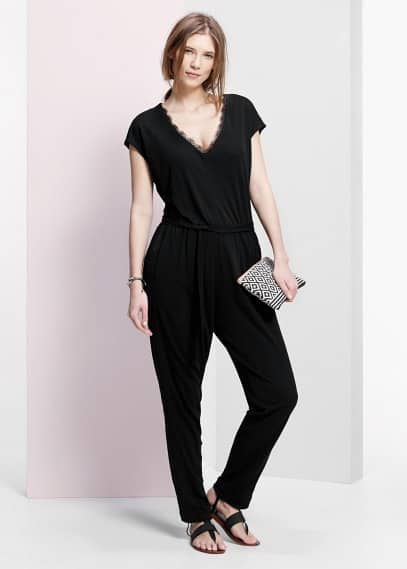 Lace long jumpsuit | VIOLETA BY MANGO