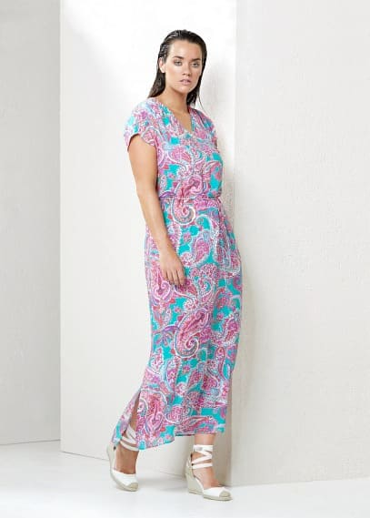 Φόρεμα τύπωμα λαχούρια | VIOLETA BY MANGO