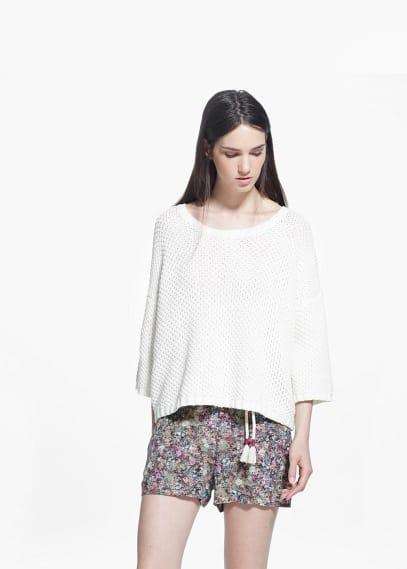 Shorts met bloemetjesprint | MANGO