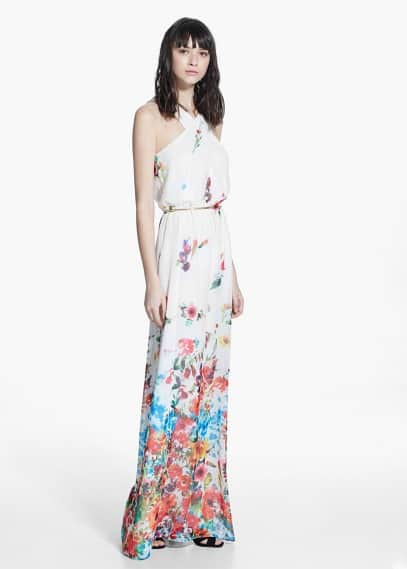 Long floral dress | MANGO