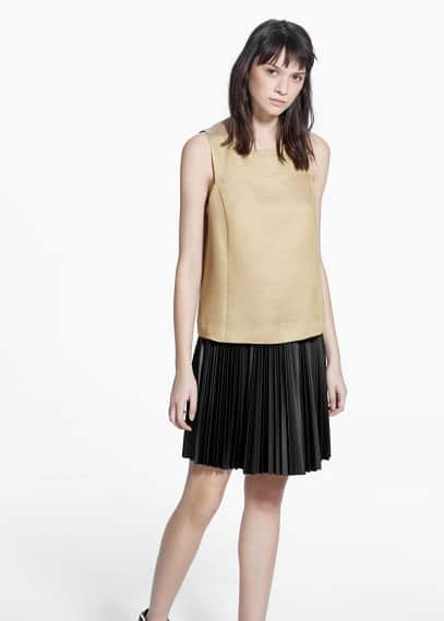 Metallic finish top | MANGO