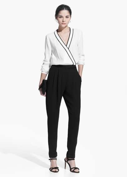 Monochrome long jumpsuit | MANGO
