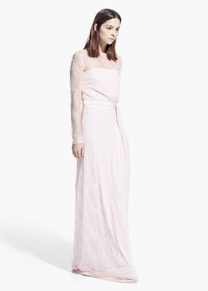 Lace long dress | MANGO
