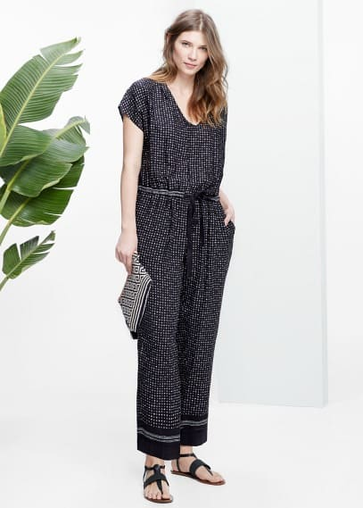 Long printed jumpsuit | VIOLETA BY MANGO