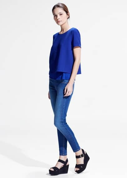 Crepe double-layer blouse | MANGO